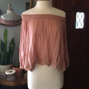 Off the shoulder top | dusty rose